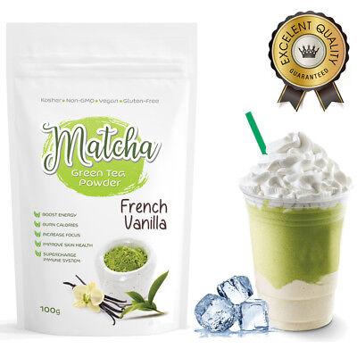 Matcha Outlet French Vanilla Green Tea Powder (100g) FREE USA Shipping