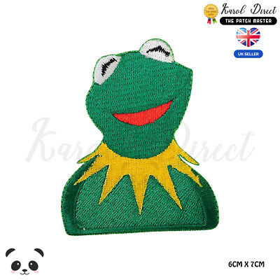 The Muppets Kermit Frog Embroidered Iron On//Sew On Patch