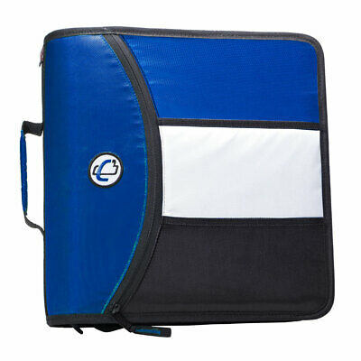 Case It Mighty Zip Tab 3 In O-ring Zipper Binder With Tabs Blue D-156-b New
