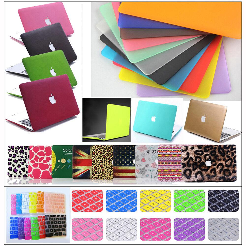 "как выглядит Сумка или чехол для ноутбука Rubberized Hard Case Shell +Keyboard Cover for Macbook Pro 13/15"" Air 11/13""inch фото"