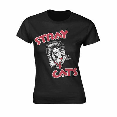 Stray Cats 'Cat Logo' Womens Fitted T-Shirt - NEW & OFFICIAL! Cat Womens Fitted T-shirt