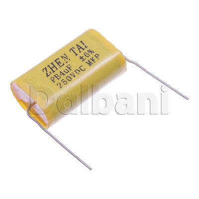 2pcs Mkp250vdc Polypropylene Non-polarized Mkp Audio Capacitor 250v 4uf