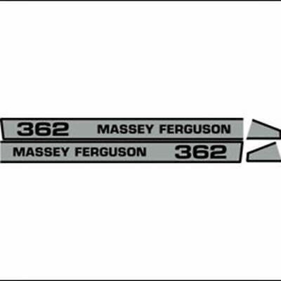 Massey Ferguson 362 Hood Decal Aftermarket