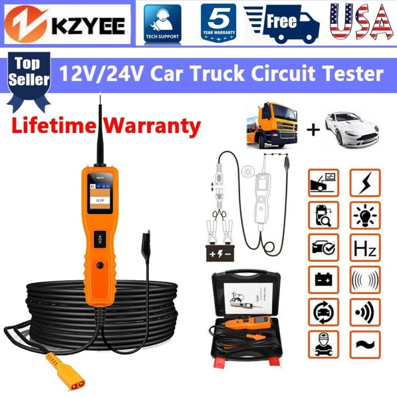 12V/24V Car Power Probe Electrical Tester Circuit Test Avometer Diagnostic Tool