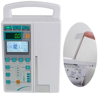 Infusion Pump Iv Fluid Equipment Voice Alarm Patient Monitor Kvo Purge Memory Us