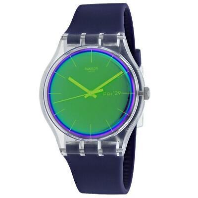 Swatch SUOK712 Polapurple 41MM Men's Purple Silicone Watch