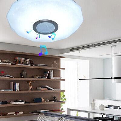 Lámpara de techo LED 36W Altavoz Bluetooth Luz Regulable Con control remoto