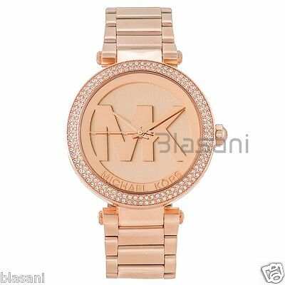 Michael Kors Original MK5865 Women's Parker Rose Gold Crystal Set Watch