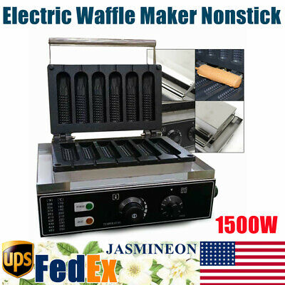 1500w Commercial Electric Waffle Maker Nonstick Corn Hot Dog Crispy Machine New
