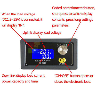 Fz35 Constant Current Electronic Load Module Battery Discharge Capacity Tester