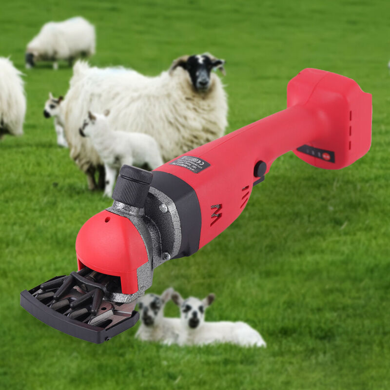Cordless Electric Supplies Sheep Goat Shears Animal Shearing Grooming Clipper
