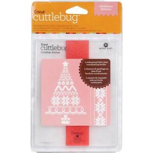 Cuttlebug Embossing Folder A2 Christmas Stitches Christmas Tree Folder & Border