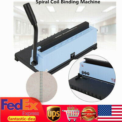 34 Hole Binding Machine Paper Punch Binder Spiral Coil Calendar Binding Machine