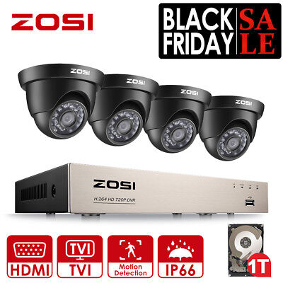 ZOSI 1080N 8CH DVR CCTV Home 720P Security Camera System Surveillance Gift 1T HD