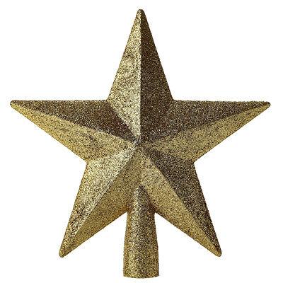 Christmas Tree Sparkle Star Topper Ornament Gold  Home Party Xmas Decor Top 20cm ()