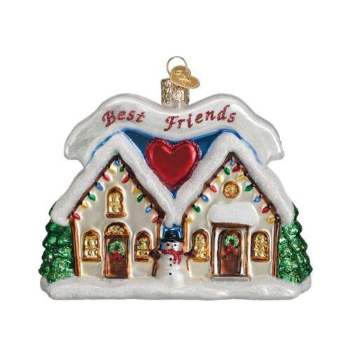 Old World Christmas FRIENDSHIP HOUSE (20067)X Glass Ornament w/ OWC Box