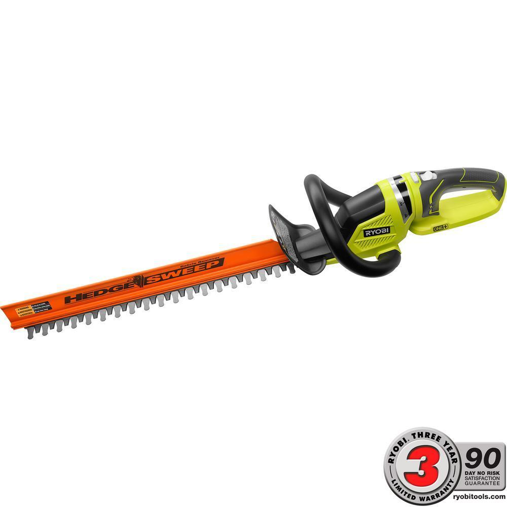Ryobi One+ 22 In. 18 Volt Cordless Hedge Trimmer W/O Battery