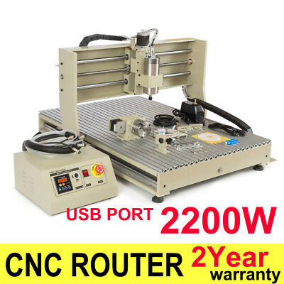 Usb 4axis 2.2kw Cnc 6090 Router Engraver Engraving Milling Drilling Machine 3d