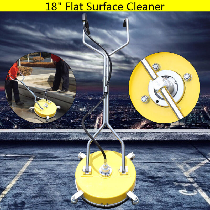 """18"""" 6.5 HP Stainless Pressure Washer Flat Surface Cleaner high pressure cleaner"""