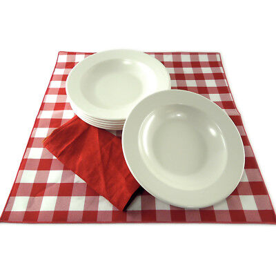 """Case of 24  Heavyweight 10"""" Melamine Pasta Soup Bowls Restaurant ChinaAppearance"""