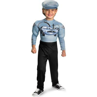 Disney Cars FINN McMISSILE Muscle Costume Size 4-6 Small New Child Boys