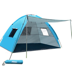 Weisshorn 2-4 Person Camping Tent - Blue