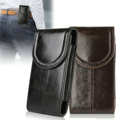 Handycase Leder Tasche Hülle passend für Smartphone mit Gürtelclip Etui Zubehör  (Clip Für Handy)