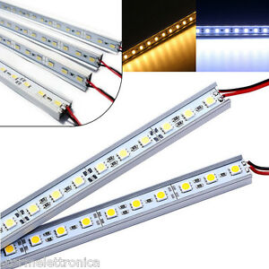 Striscia led rigida barra profilo alluminio 1m rgb bianco for Luce led striscia