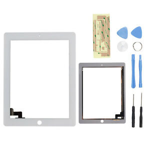 New OEM Touch Screen Glass Digitizer Replacement for Apple iPad 2G White+Tools