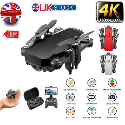 Foldable RC Drone Quadcopter With HD 4K Camera WIFI FPV Quadcopter Altitude UK