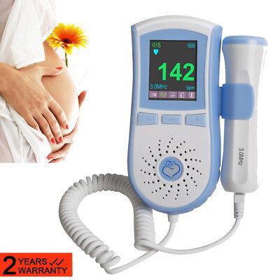 Portable Fetal Doppler 3 Mhz Probe Ultrasound Prenatal Baby Heart Monitor Safe