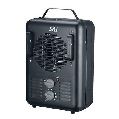 NEW!! SAI 1,500-Walt Utility Milkhouse Fan-Forced Portable Heater w Thermostat