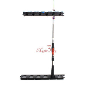 Rod rack reel combos storage holder pole vertical car wall for Wall fishing tools