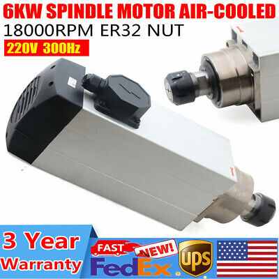 6kw Er32 Spindle Motor 220v Air-cooling 18000rpm High Speed Motor Cnc Woodwork