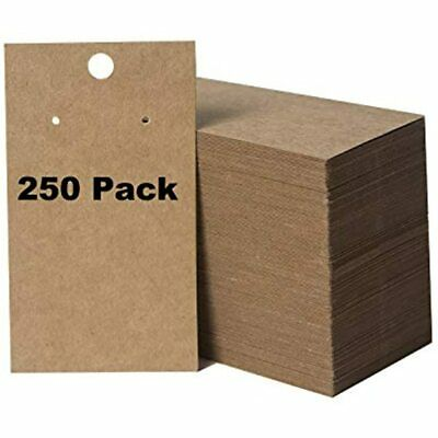 250 Pack Earring Display Cards And Bracelet Jewelry - Wholesale Kraft Hanging X