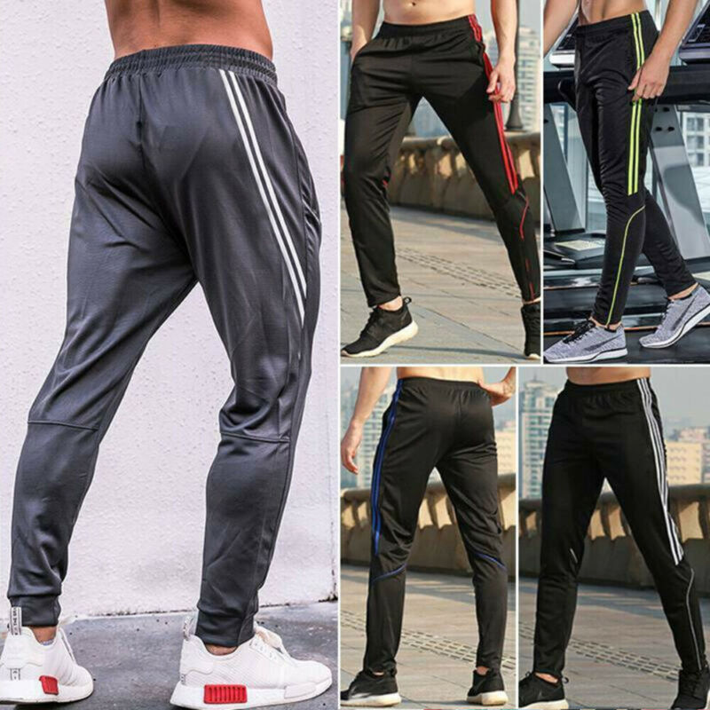 Men's Sports Pants Zipper Pockets Sweatpants Running Jogger