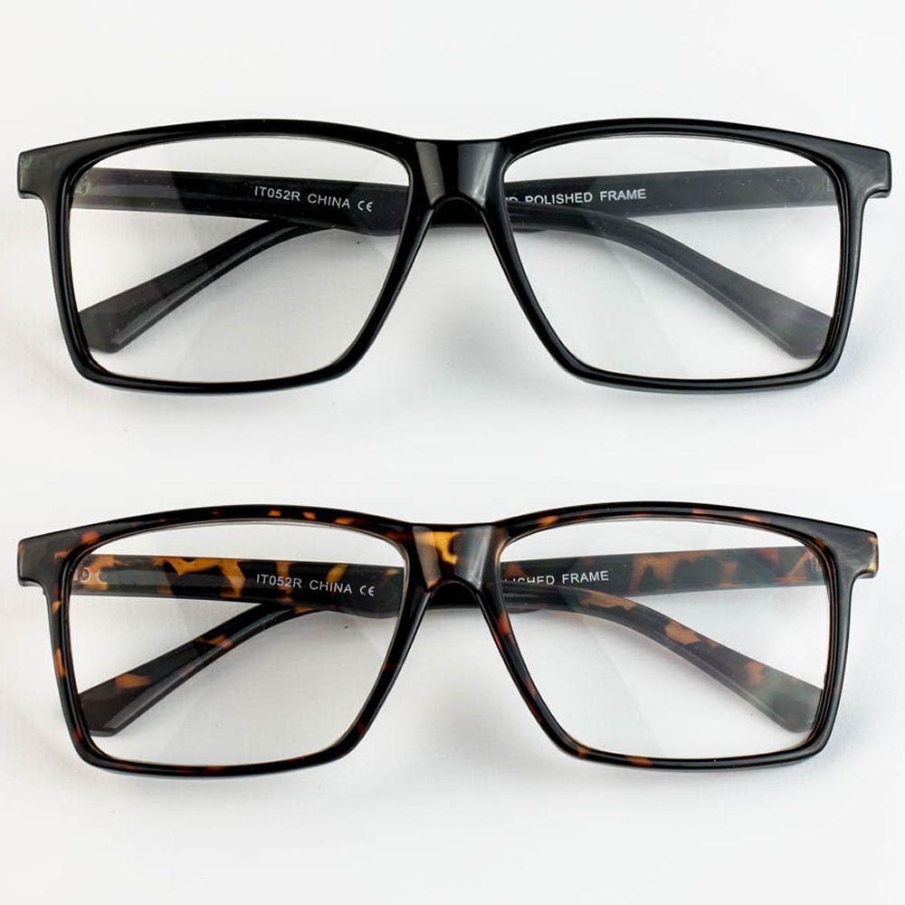 Large Oversized Wayfarer Glasses READING Clear Lens Thin Frame Nerd ...