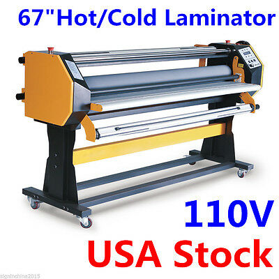 110v 67 Stand Frame Full-auto Single Side Wide Format Hotcold Laminator Stand