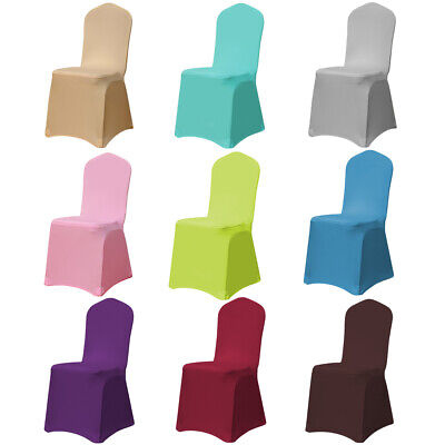 Folding Chair Seat Covers (4/6/10 Spandex Stretch Wedding Chair Cover Fitted Folding Seat Cover Event Decor )