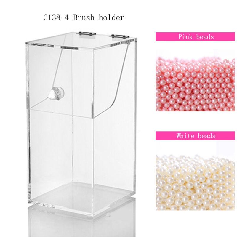 Nice Acrylic Dustproof Cosmetic Organizer Makeup Brush Storage Case Holder Box