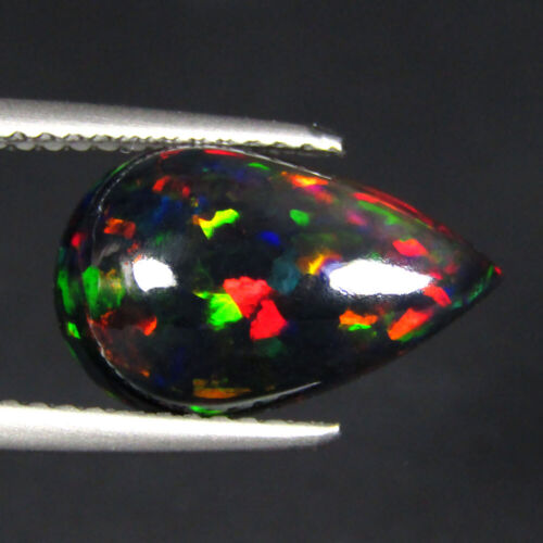 """2.77CTS EXCELLENT 3D MULTI COLOR NATURAL WELO BLACK OPAL LOOSE GEMSTONE """"VIDEO"""""""