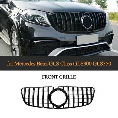 für Benz X166 GLS500 GLS63AMG 16-19 Frontgrill Kühlergrill W/Camera Hole Schwarz