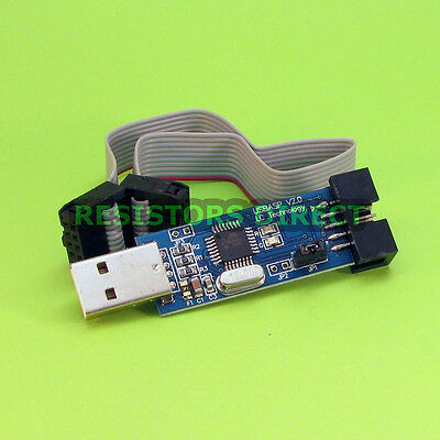 Usbasp V2.0 Usbisp Avr 10 Pin Usb Programmer For Atmega8 With Ribbon Cable Y18