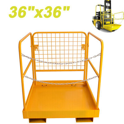 Forklift Safety Cage Work Platform Collapsible Lift Basket Aerial Rails 36x36