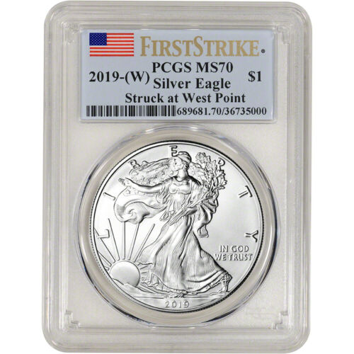 Best  2019-(W) AMERICAN SILVER EAGLE - PCGS MS70 - FIRST STRIKE