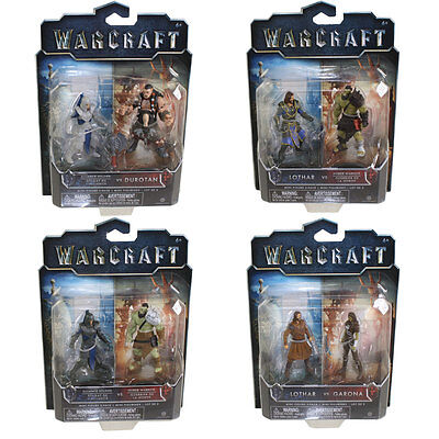 Jakks Pacific Toys   Warcraft Movie Mini Figure 2 Packs   Set Of 4   New