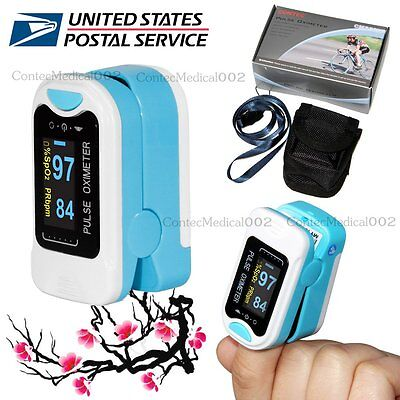 Us Shipping Fda Oled Fingertip Spo2 Oximeter Pulse Rate Heart Rate Ox Metercase