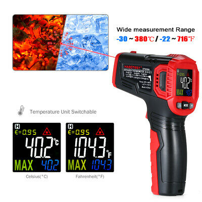 HABOTEST Handheld Industrial Non-Contact IR Infrared Thermometer -30~550℃