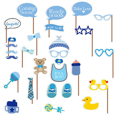 Baby Shower Photo Booth Props, Its a Boy Baby Decorations 29pcs, NO NEED DIY, US](Decorating A Baby Shower)