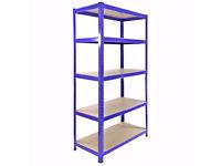 HEAVY DUTY 174kg/shelf BLUE Storage shelves 180cm x 90cm x 40cm Metal Racking Garage £40 delivery
